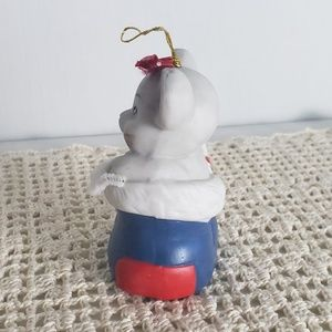 Vintage Holiday - 1986 Vintage Mouse in Stocking Christmas Ornament